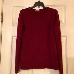Maroon, crew neck sweater